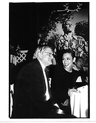 David Hockney and Tina Chow (photo backdrop by Jean Howard)© Copyright Photograph by Dafydd Jones 66 Stockwell Park Rd. London SW9 0DA Tel 020 7733 0108 www.dafjones.com