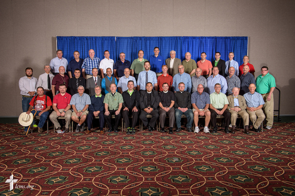 Iowa District West group photograph on Monday, July 11, 2016, at the 66th Regular Convention of The Lutheran Church–Missouri Synod, in Milwaukee. LCMS/Erik M. Lunsford