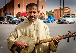 Street musician in Tazenakht, southern Morocco, Africa<br /> <br /> (c) Andrew Wilson | Edinburgh Elite media