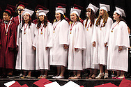 The Senior Choir performs during the 142nd annual Lebanon High School commencement at the Nutter Center in Fairborn, Saturday, May 26, 2012.