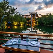 Saffron Restaurant at the Banyan Tree hotel. Mayakoba. Riviera Maya. Mexico.