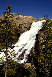 CA: Yosemite National Park, White Cascade, Tuolomne River        .Photo Copyright: Lee Foster, lee@fostertravel.com, www.fostertravel.com, (510) 549-2202.cayose218