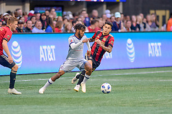 October 21, 2018 - Atlanta, GA, U.S. - ATLANTA, GA - OCTOBER 21: Chicago Fire forward Raheem Edwards (7) during the MLS game between the Atlanta United and the Chicago Fire on October 21, 2018 at the Mercedes-Benz Stadium in Atlanta, GA. Atlanta United FC secured a place in next year's CONCACAF Champions League with a 2-1 victory against the visiting Chicago Fire. (Photo by John Adams/Icon Sportswire) (Credit Image: © John Adams/Icon SMI via ZUMA Press)