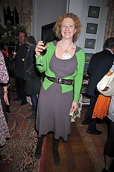 SAMANTHA WEINBERG at a party to celebrate the publication of Charles Glass's new book 'Americans in Paris' held at 12 Lansdowne Road, London W1 on 25th March 2009.