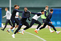 SAINT PETERSBURG, RUSSIA - JULY 10: Danny Rose (C) of England national team during an Englang national team training session ahead of the 2018 FIFA World Cup Russia Semi Final match against Croatia at Stadium Spartak Zelenogorsk on July 10, 2018 in Saint Petersburg, Russia. (MB Media)