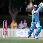 Anagha Deshpande batting during  the ICC Women's World Cup Cricket play off for third place between Australia and India at Bankstown Oval, Sydney, Australia on March 21, 2009. India beat Australia by three wickets. Photo Tim Clayton