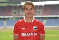 German Soccer Bundesliga 2015/16 - Photocall of Hannover 96 on 13 July 2015 in Hanover, Germany: Niklas Teichgräber