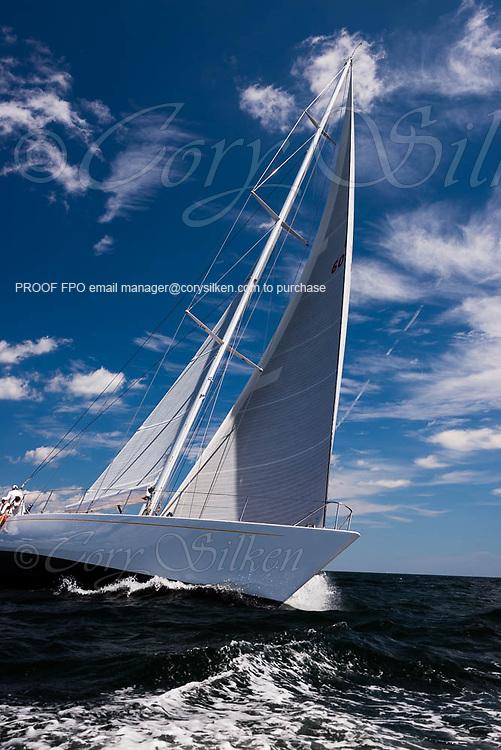 Heroina sailing in the Corinthian Classic Yacht Regatta.