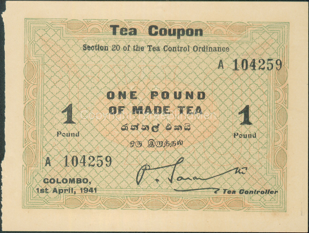 Tea coupons. Size as indicated in image properties.<br />