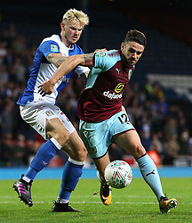 Robbie Brady of Burnley takes on Ben Gladwin of Blackburn Rovers - Mandatory by-line: Matt McNulty/JMP - 23/08/2017 - FOOTBALL - Ewood Park - Blackburn, England - Blackburn Rovers v Burnley - Carabao Cup - Second Round