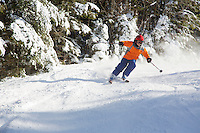 Jessica Laman (age 9) Skiing at Wildcat Mountain, New Hampshire.