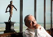 Robert (Bob) Smith, art collector.  Photographed in his home in Crystal City, VA for Apollo Magazine