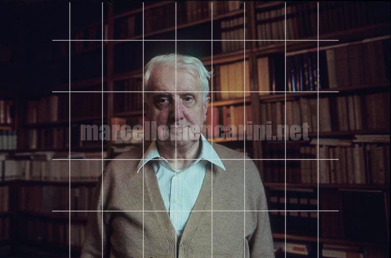 Milan, 1980. Italian literary critic Carlo Bo in his home / Milano, 1980. Il critico letterario Carlo Bo nella sua casa - © Marcello Mencarini