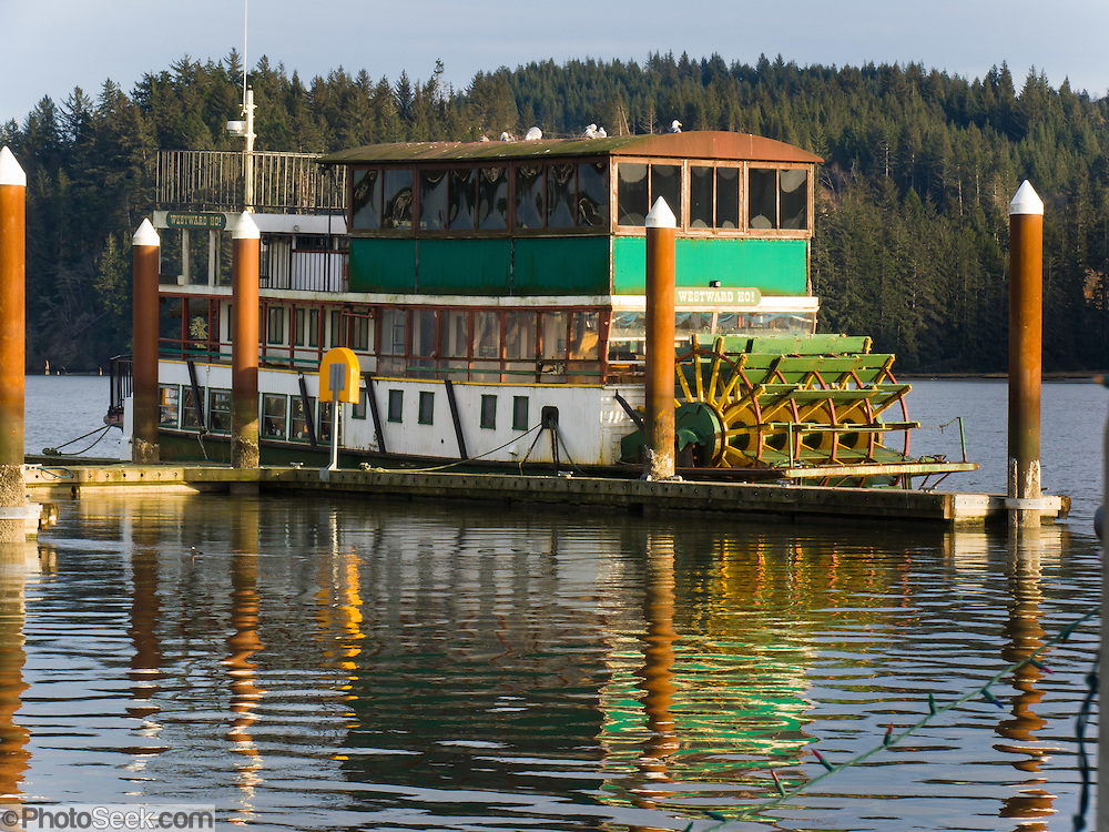"The town of Florence, Oregon, invites you to ""enjoy the beauty of the magnificent Siuslaw River aboard this elegant 54 foot 1850's sternwheeler, the Westward Ho!"""