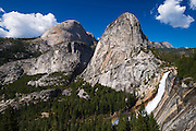 Nevada Fall, Half Dome and Liberty Cap, Yosemite National Park, California USA