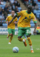 Coventry - Saturday August 9th, 2008: Omar Koroma of Norwich City in action against Coventry City during the Coca Cola Championship match at The Ricoh Arena, Coventry. (Pic by Michael Sedgwick/Focus Images)