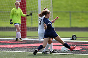 McDowell junior varsity girls soccer team competes against the Fairview Tigers in a JV game held on Saturday, Sept. 16, 2017 in Fairview, Pa. The Trojans won the game 4-0. (©Paul Spinelli)