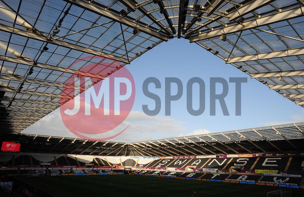 General View inside the Liberty Stadium.  - Mandatory byline: Alex James/JMP - 07966 386802 - 20/12/2015 - FOOTBALL - Liberty Stadium - Swansea, England - Swansea City v West Ham United - Barclays Premier League