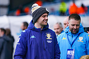 Leeds United forward Patrick Bamford (9) arrives at the ground during the EFL Sky Bet Championship match between Leeds United and Bristol City at Elland Road, Leeds, England on 15 February 2020.