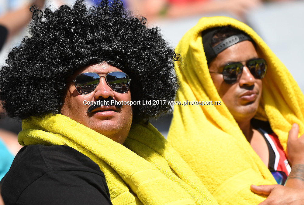 Fans and supporters in the stands. NRL Auckland Nines Rugby League. Eden Park, Auckland, New Zealand. Saturday 4 February 2017. © Copyright photo: Andrew Cornaga / www.photosport.nz