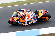PHILLIP ISLAND, VIC - OCTOBER 27: Repsol Honda Team rider Marc Marquez (93) in morning practice during The 2018 Australian MotoGP at The Phillip Island Circuit in Victoria, Australia on October 27, 2018. (Photo by Speed Media/Icon Sportswire)