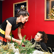 Fabienne Egger is floral arrangements at Jovoy, Luxury Perfumery in Mayfair to launch world renowned floral artist Fabienne Egger Luxury Wreath making workshops across the UK at Jovoy Mayfair on 7 November 2019, London, UK.