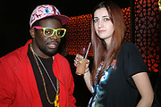 NIYI ADELAKUN AND SARAH NICHOLLS, A Party To Celebrate the Launch of 'A Hedonist's Guide To Life' Maya. Dean St. London. 23 October 2007. -DO NOT ARCHIVE-© Copyright Photograph by Dafydd Jones. 248 Clapham Rd. London SW9 0PZ. Tel 0207 820 0771. www.dafjones.com.