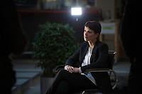 DEU, Deutschland, Germany, Berlin, 16.12.2016: Dr. Frauke Petry, Vorsitzende der Partei Alternative für Deutschland (AfD), bei einem TV-Interview im Atrium der Bundespressekonferenz.