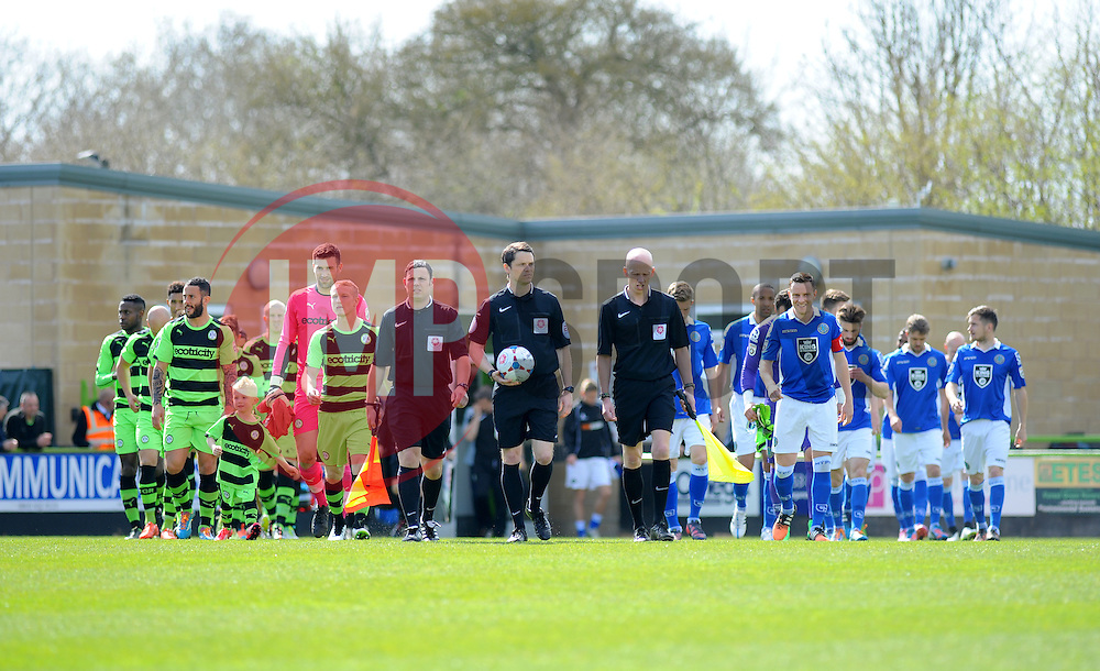 - Photo mandatory by-line: Nizaam Jones - Mobile: 07966 386802 - 11/04/2015 - SPORT - Football - Nailsworth - The New Lawn - Forest Green Rovers v Macclesfield Town - Vanarama Football Conference