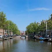 Amsterdamse gracht Amsterdam, Kloveniersburgwal kijkend richting Nieuwmarkt