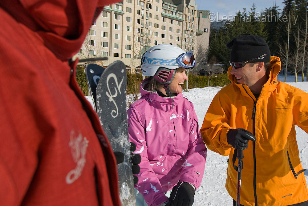 The hotel, the Fairmont Chateau Whistler, provides a daily ski valet service to pick up your skis from the mountain.
