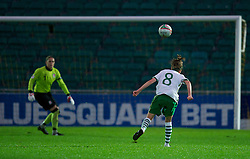 NEWPORT, WALES - Saturday, September 17, 2011: Republic of Ireland's Denise O'Sullivan (Wilton United) scores the second goal against after another mistake by Wales' goalkeeper Rhian Nokes (Cardiff City) during the UEFA European Women's Championship 2011-13 Group 4 Qualifying match at the Newport Stadium. (Pic by David Rawcliffe/Propaganda)
