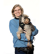 "Ingelora Terpning and her Miniature Schnauzer named ""Buddie"""