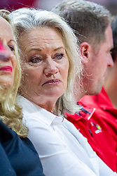NORMAL, IL - December 07: Doug Collins wife Kathy during a college basketball game between the ISU Redbirds and the Morehead State Eagles on December 07 2019 at Redbird Arena in Normal, IL. (Photo by Alan Look)