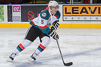 KELOWNA, CANADA -FEBRUARY 5: Dalton Yorke #5 of the Kelowna Rockets skates with the puck against the Red Deer Rebels on February 5, 2014 at Prospera Place in Kelowna, British Columbia, Canada.   (Photo by Marissa Baecker/Getty Images)  *** Local Caption *** Dalton Yorke;