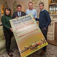Jane Davies of Connollys Red Mills, Point to Point Chairman Michael Jones, Jockey Paul O'Neill and Jockey Derek O'Connor