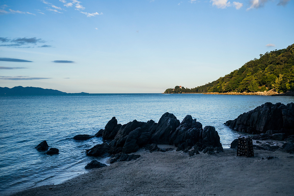 A late afternoon seascape from the shores of the Four Seasons in Koh Samui, Thailand.