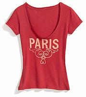 red paris screenprinted t-shirt by material lust