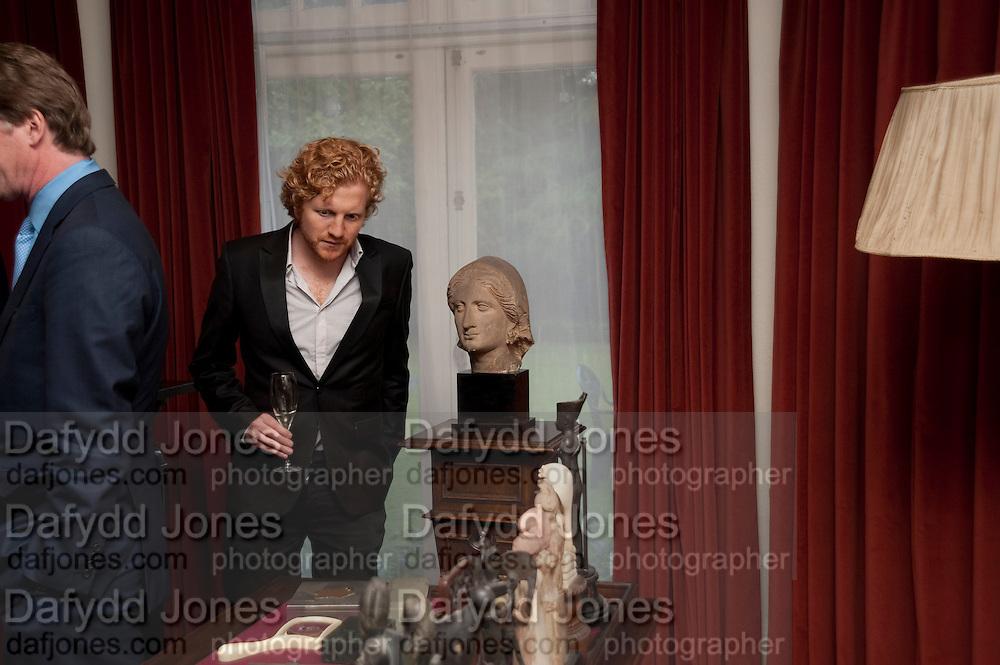 LUKE BLACKALL, Freud Museum dinner, Maresfield Gardens. 16 June 2011. <br /> <br />  , -DO NOT ARCHIVE-© Copyright Photograph by Dafydd Jones. 248 Clapham Rd. London SW9 0PZ. Tel 0207 820 0771. www.dafjones.com.