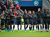 Football - 2019 / 2020 pre-season friendly - Liverpool vs. Napoli<br /> <br /> Liverpool lap of honour, at Murrayfield, Edinburgh.<br /> <br /> COLORSPORT/BRUCE WHITE