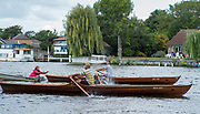 Walton, Great Britain,  Men's Single,  at the start, moving away from the Stake Boats, Walton Reach Regatta, Walton on Thames, Skiff and Punting Regatta  <br />