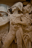 A frieze containing a figure of Napoleon