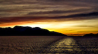 Dusk After Leaving Alesund. Image taken with a Nikon D2xs and 35 mm f/2 lens (ISO 400, 35 mm, f/2, 1/800 sec). Raw Image Processed with Capture One 7 Pro.