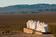 The Last Supper sculpture by Albert Szukalski in Rhyolite, NV ghost town part of the Goldwell Open Air museum