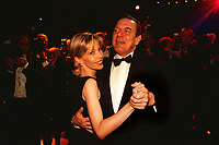 12 NOV 1999, BERLIN/GERMANY:<br /> Gerhard Schröder, Bundeskanzler, und Ehefrau Doris Schröder-Köpf, tanzen auf dem Bundespresseball 1999, Hotel Intercontinental<br /> Gerhard Schroeder, Fed. Chancellor, Germany, and his wife Doris Schroeder-Koepf, are dancing at the Bundespresseball 1999<br /> IMAGE: 19991112-01/04-32<br /> KEYWORDS: ball, dance, Tanz, Frau, Freizeit, Gesellschaft, society