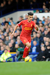 Liverpool's Philippe Coutinho - Photo mandatory by-line: Dougie Allward/JMP - Tel: Mobile: 07966 386802 23/11/2013 - SPORT - Football - Liverpool - Merseyside derby - Goodison Park - Everton v Liverpool - Barclays Premier League