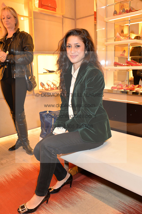 FATIMA BHUTTO at a breakfast at Roger Vivier, 188 Sloane Street to view the SS2014 Roger Vivier collections held on 20th March 2014.