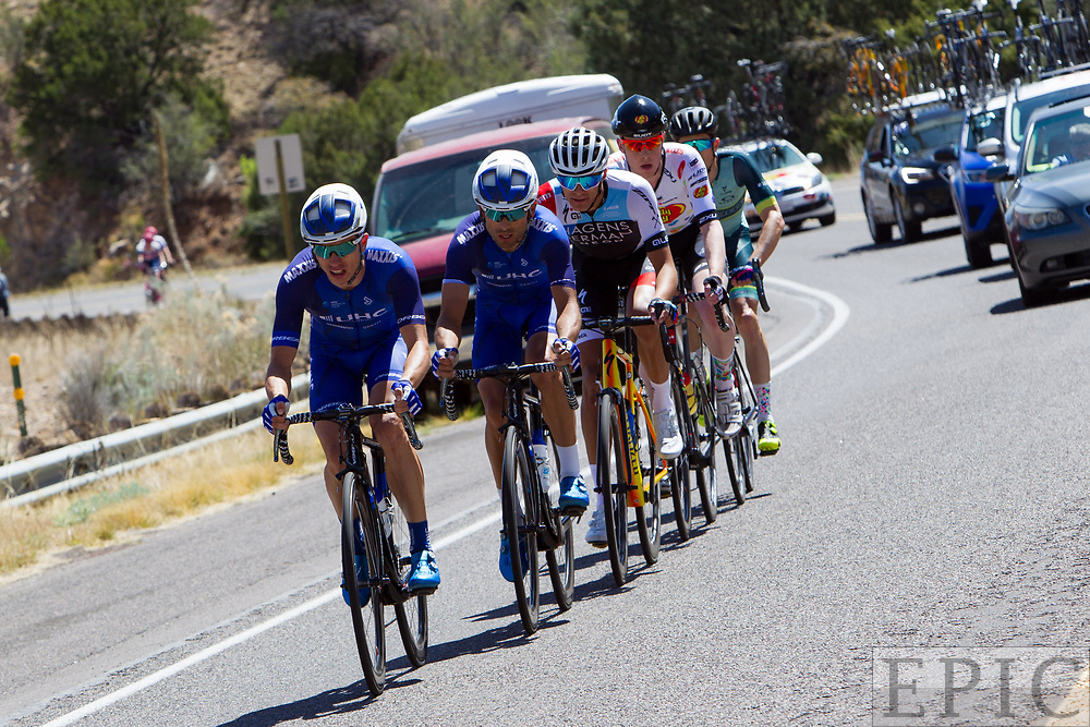 SILVERY CITY, NM - APRIL 19: Stage 2 of the Tour of The Gila on April 19, 2018 in Silver City, New Mexico. (Photo by Jonathan Devich/Epicimages.us)