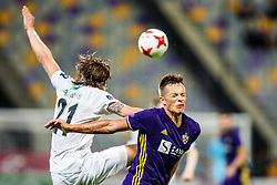 Matej Palcic #29 of NK Maribor and Bodvar Bodvarsson #21 of FH Hafnarfjirdur during 1st Leg football match between NK Maribor (SLO) and FH Hafnarfjordur (ISL) in Third qualifying round of UEFA Champions League 2017/18, July 26, 2017, in Stadium Ljudski vrt, Maribor, Slovenia. Photo by Grega Valancic / Sportida
