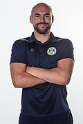 Forest Green Rovers physio Joe Baker during the official team photocall for Forest Green Rovers at the New Lawn, Forest Green, United Kingdom on 29 July 2019.